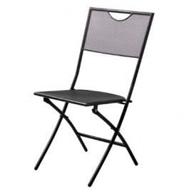 Chaise pliante de jardin en acier Terraza