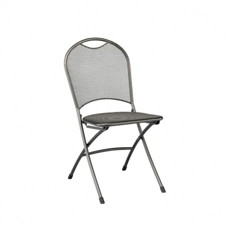 Chaise de jardin pliante en acier Calvia