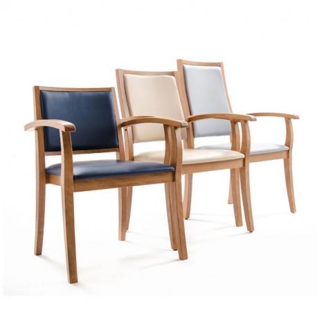 Chaise avec accoudoirs avec trois hauteurs de dossiers
