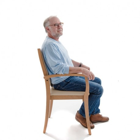 Chaise liza confortable avec accoudoirs