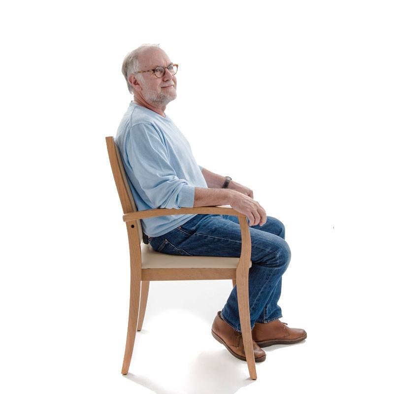 Chaise liza dossier haut - Chaise confortable avec accoudoirs ...
