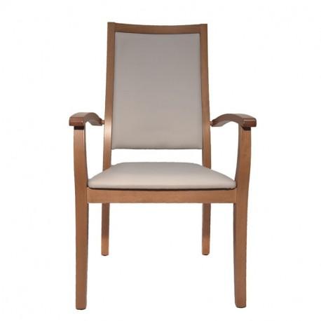 Chaise avec accoudoirs Liza dossier très haut gris souris