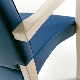 Chaise avec accoudoirs pour seniors