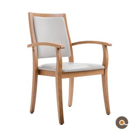 Chaise liza avec accoudoirs dossier haut