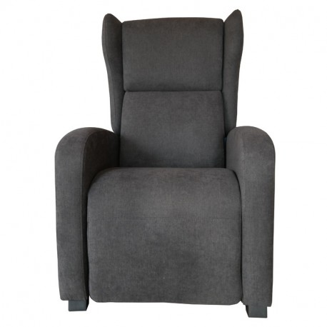 Fauteuil Gino tissu doux gris anthracite