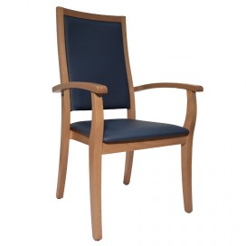 Chaise Liza dossier très haut bleue