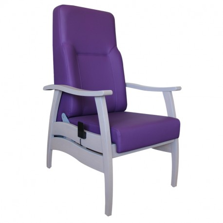 Fauteuil relax dossier inclinable mauve