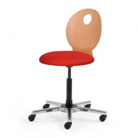 Chaise de bureau dynamique dossier bois