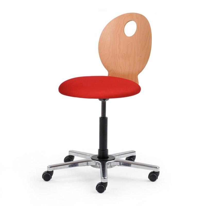 Chaise de bureau dynamique dossier bois - Roulette de chaise de bureau ...