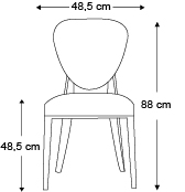 chaise-cammeo-sans-accoudoirs-dimensions