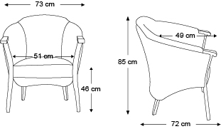 fauteuil-gibao-dimensions
