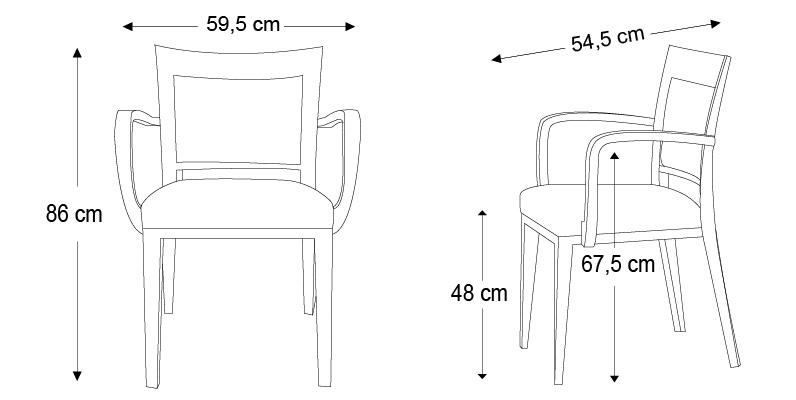 dimension de chaise standard. Black Bedroom Furniture Sets. Home Design Ideas