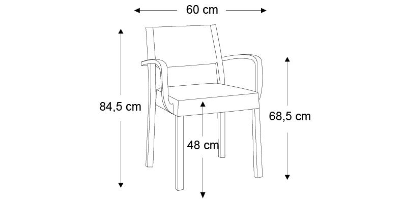 chaise avec accoudoirs sintesy. Black Bedroom Furniture Sets. Home Design Ideas
