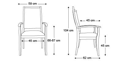chaise-Liza-dossier-très-haut-dimensions