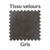 Tissu velour gris