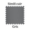 Simili cuir gris
