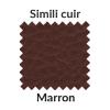 Simili cuir chocolat