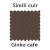 Le simili cuir couleur café