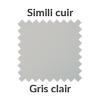 Simili cuir gris clair