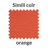 La couleur orange en simili cuir