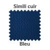 La couleur bleue en simili cuir