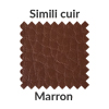 La couleur marron en simili cuir