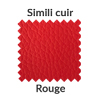 La couleur rouge en simili cuir