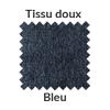 La couleur bleue en tissu doux