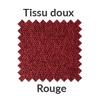 La couleur rouge en tissu doux