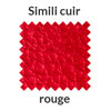 Simili cuir en rouge