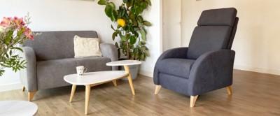 Odissi : Le fauteuil de relaxation à la ligne courbée